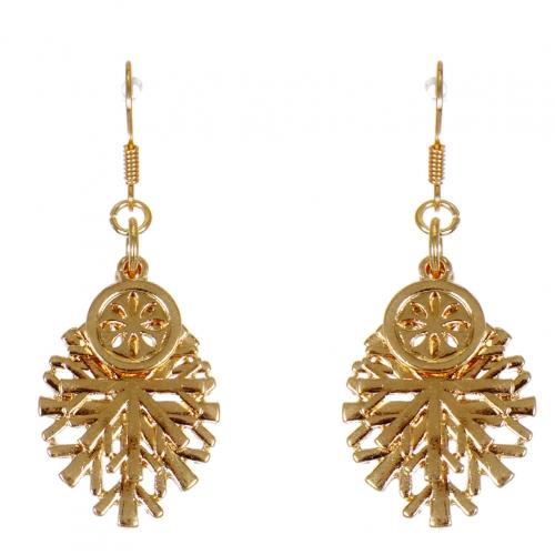Wholesale WA00 Snowflake pendants earrrings GD