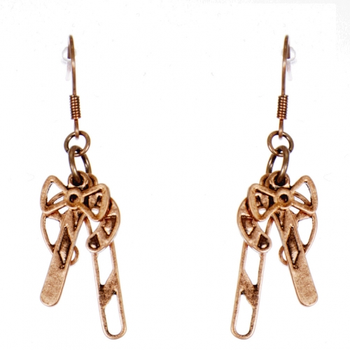 Wholesale WA00 Candy canes & bow earrings CB