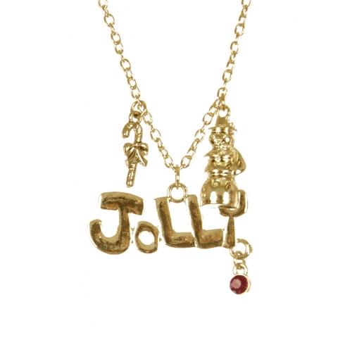 Wholesale WA00 Jolly Christmas pendant necklace GD