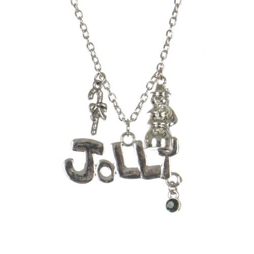 Wholesale WA00 Jolly Christmas pendant necklace SV