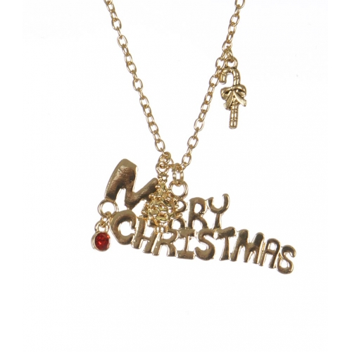 Wholesale WA00 Merry Christmas pendant necklace GD