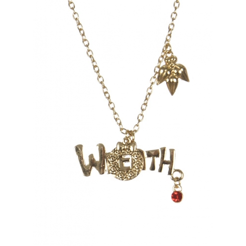 Wholesale WA00 Wreath Christmas pendant necklace GD