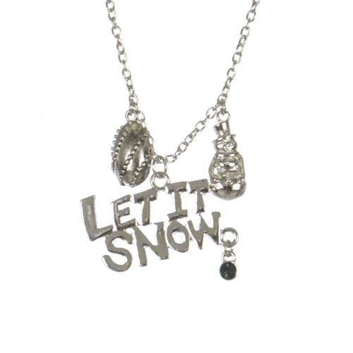 Wholesale WA00 LET IT SNOW Christmas pendant necklace SV