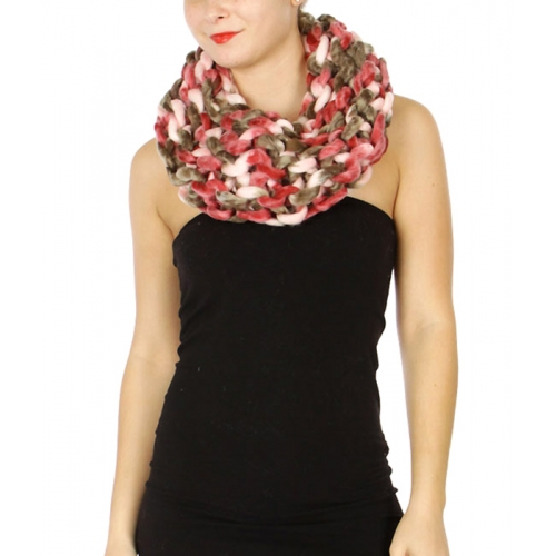 Wholesale S34D Multicolor loopy mango infinity scarf BK