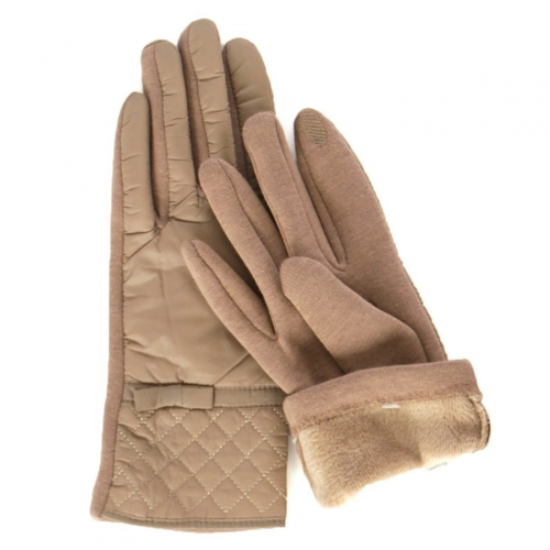 Wholesale P07A Fleece lined smart phone friendly quilted padding gloves BD