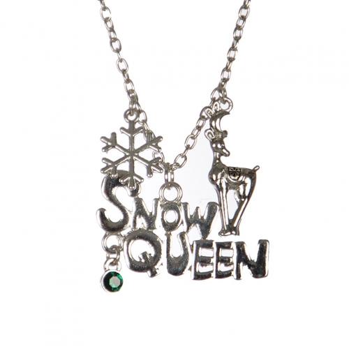 Wholesale M04B SNOW QUEEN Christmas pendant necklace SV