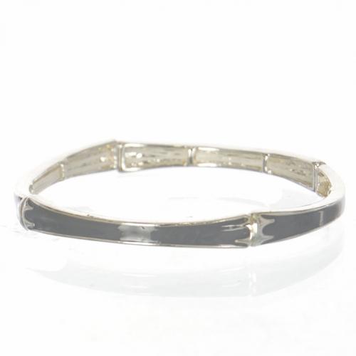 Wholesale Metal & enamel bamboo double stretch bracelet SGR