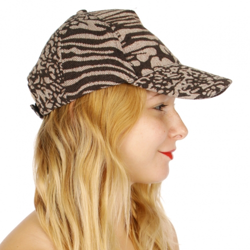 Wholesale V78A Animal print cotton blend baseball cap