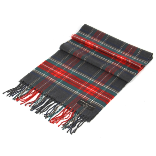 Wholesale P36B Softer than cashmere plaid scarf Grey