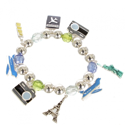 Wholesale Travel Charms Stretch Bracelet ASMX