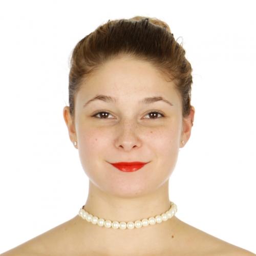 Wholesale N36D Pearl & velvet ribbon choker GJPL