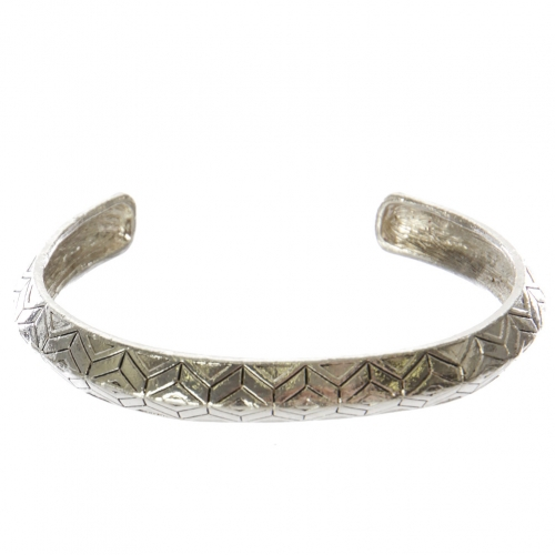Wholesale WA00 Geometric pattern metal bangle AS