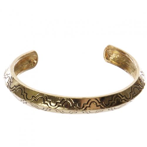 Wholesale WA00 Quatrefoil pattern metal bangle AG