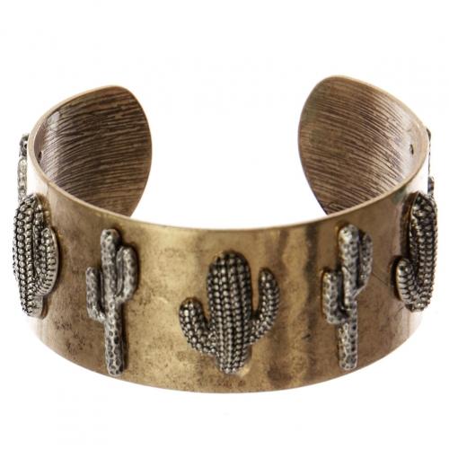Wholesale WA00 Cacti metal statement cuff bracelet RGB/SB