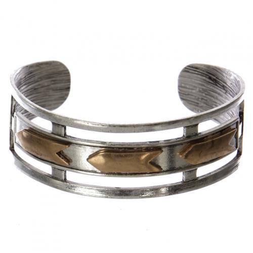 Wholesale WA00 Mutli-arrows cutout metal statement cuff bracelet SB/RGB