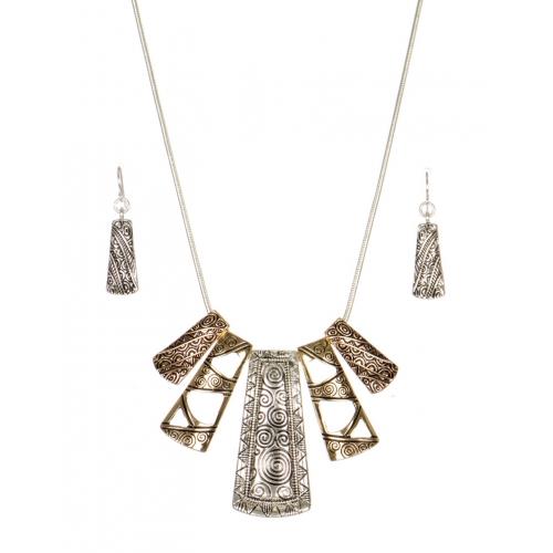 Wholesale N32A Tribal metal pendant necklace set  MT