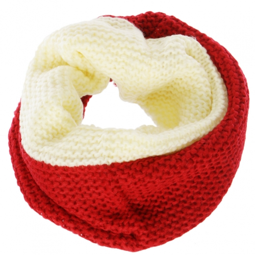 Wholesale T67E Simple two tone neck warmer BK/GR