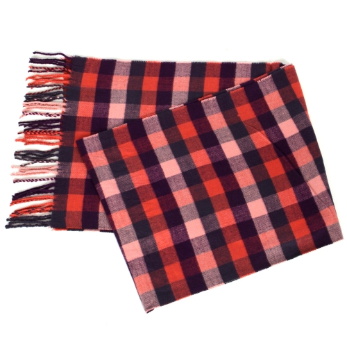 {[en]:Wholesale O58A Checkered pattern cashmere feel scarf