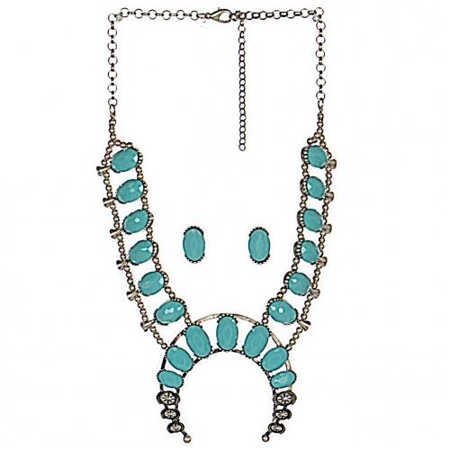 Wholesale WA00 Large stones & beads fancy necklace set BSTQ