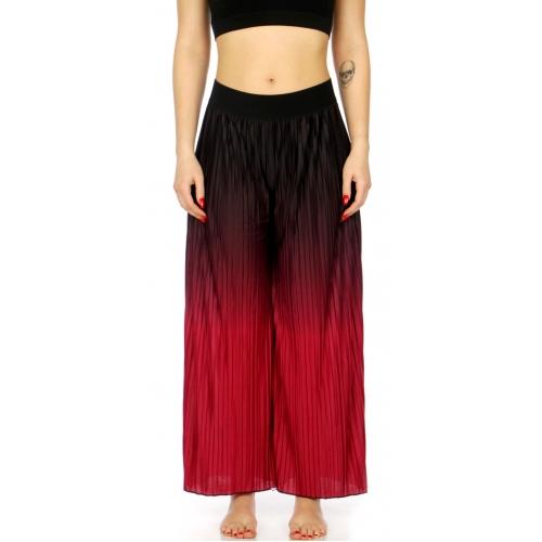 Wholesale C06A Super soft pleated ombre palazzo pajama pants Fuschia
