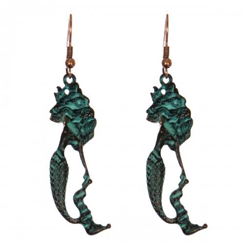 Wholesale WA00 Flowy hair mermaid earrings OG