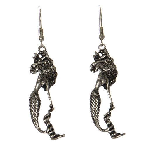 Wholesale WA00 Flowy hair mermaid earrings SB