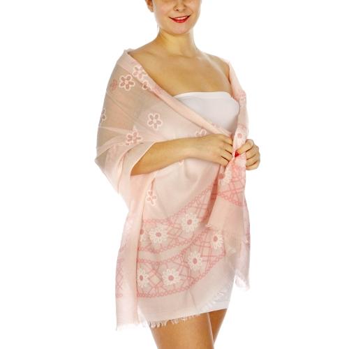Wholesale I01B Daisy flower scarf GY