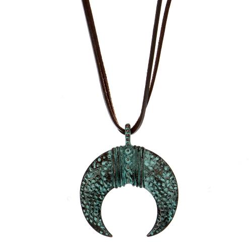 Wholesale M28B Crescent moon pendant necklace OG