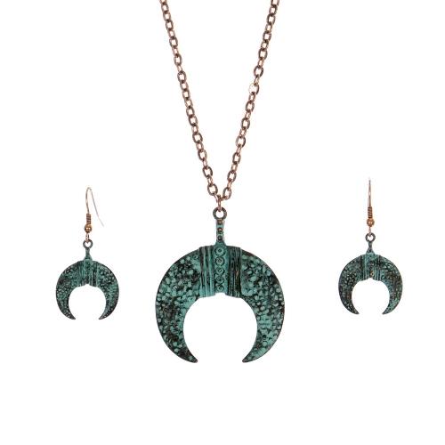 Wholesale M28C Crescent moon pendant necklace set OG