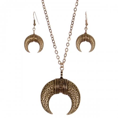 Wholesale M28C Crescent moon pendant necklace set RGB
