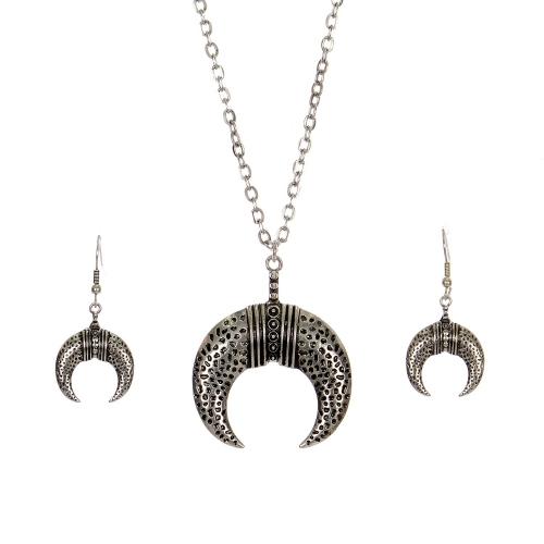 Wholesale M28C Crescent moon pendant necklace set SB
