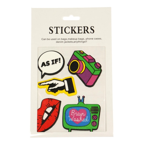 Wholesale WA00 Camera PU sticker set for clothes & accessories