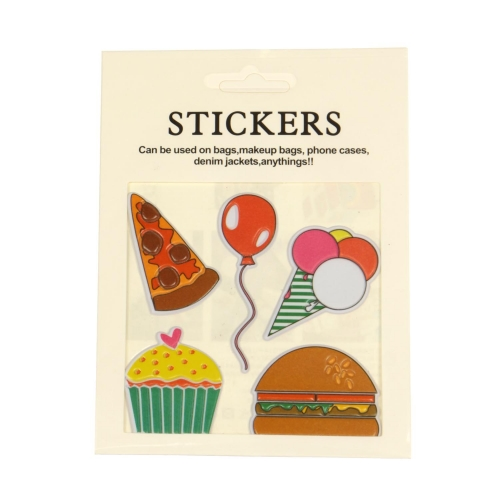 Wholesale WA00 Pizza PU sticker set for clothes & accessories