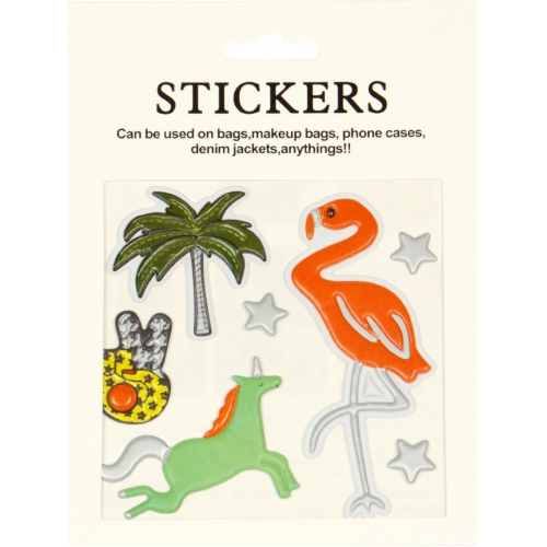 Wholesale WA00 Flamingo PU sticker set for clothes & accessories