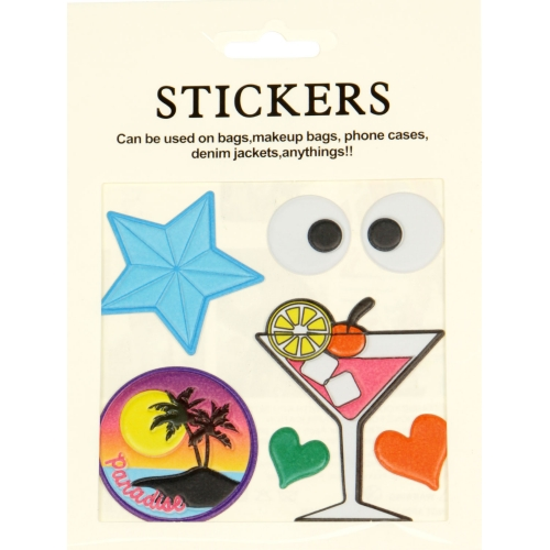 Wholesale WA00 Martini PU sticker set for clothes & accessories