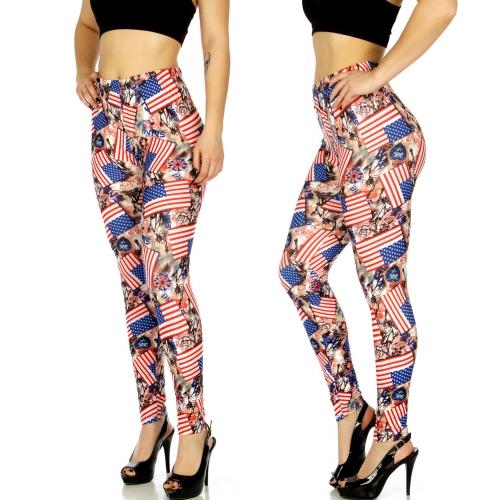Wholesale C17D America print leggings