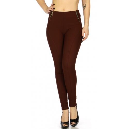 Wholesale E29 Side zippers corduroy leggings Black