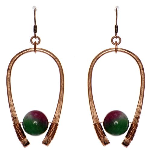 Wholesale WA00 Horseshoe & stone earrings CB