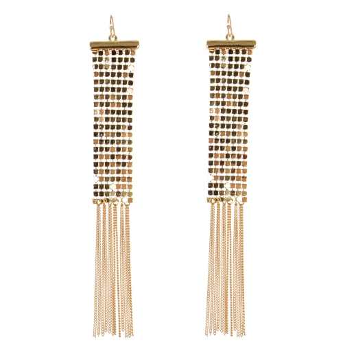 Wholesale WA00 Metal net & frill earrings G