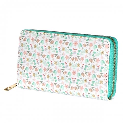 Wholesale WA00 Mini flower print long wallet