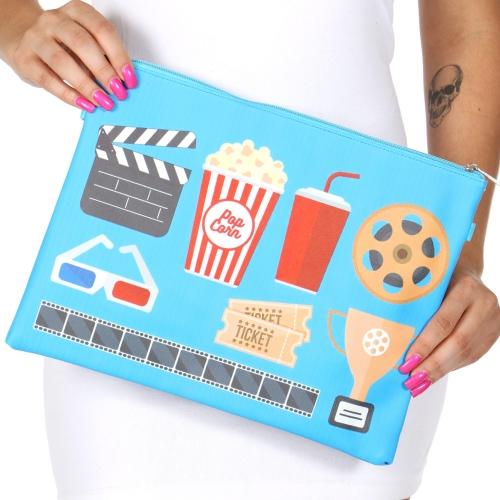 Wholesale T80 Moview theatre rectangular clutch bag w/ shoulder strap