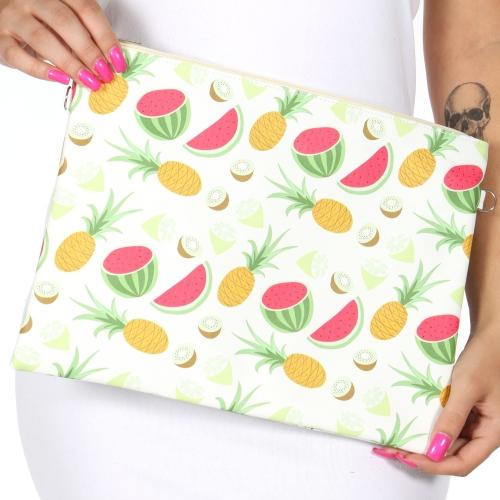 Wholesale T80 Summer fruits rectangular clutch bag w/ shoulder strap