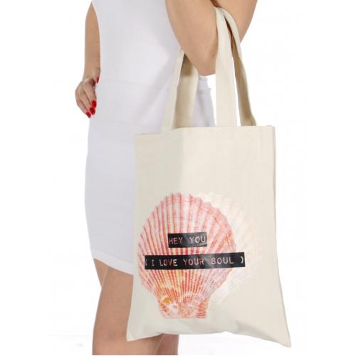 Wholesale T25C I LOVE YOUR SOUL canvas bag