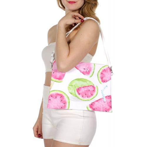 Wholesale T80 Watermelon rectangular clutch bag w/ shoulder strap