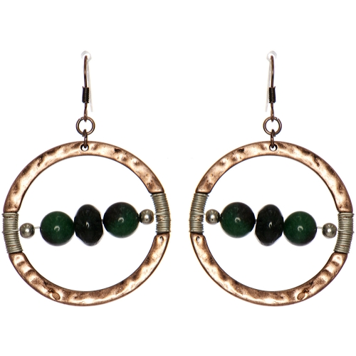 Wholesale WA00 Stone & coil ring earrings CB