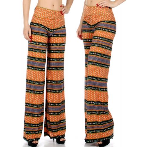 Wholesale P20 Horizontal mini flower palazzo pants