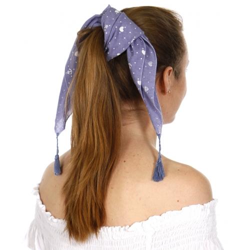 Wholesale I42A Square little anchors bandana w/ tassels