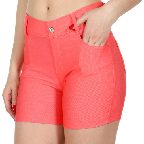 Wholesale C49 Solid color shorts Coral