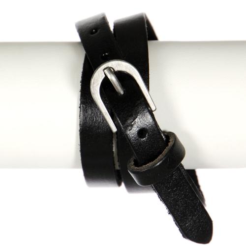 Wholesale WA00 Belt like wrap bracelet BLK