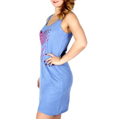 Wholesale Q17-1A LOVE sleeveless nightshirt Blue